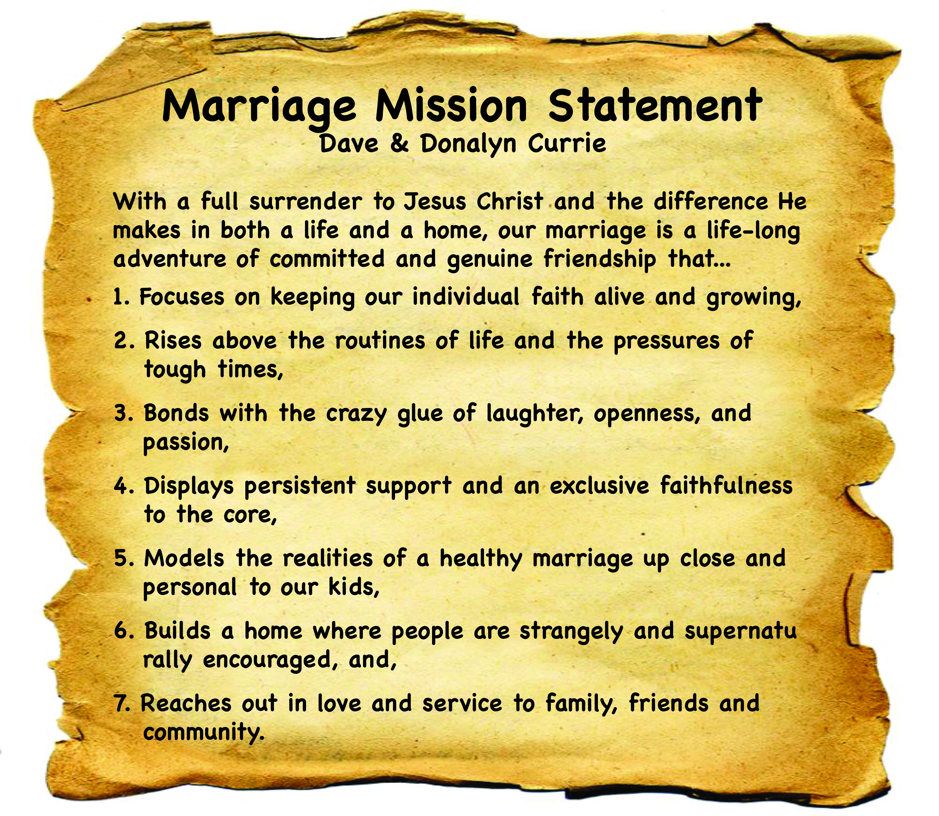 marriage developing a marriage mission statement doing family right it is out of this deep conviction about your mms and your enthusiasm and commitment to it that you will be able to transfer the implications into your